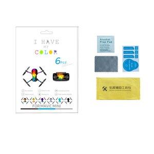 Image 5 - 6 Stuks Set Beschermende Film Pvc Stickers Voor Mavic Mini Waterdichte Scratch Proof Decals Volledige Cover Skin Voor Mavic miniaccessories