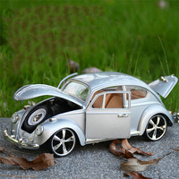 Promotional 1:18 simulation retro classic car alloy model,collection gift beetle car model, children's gift toys,free shipping