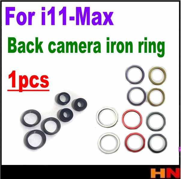 1 Uds. Para el iPhone 11 pro max piezas de repuesto de la cubierta del bisel del anillo de hierro de la cámara trasera de alta calidad