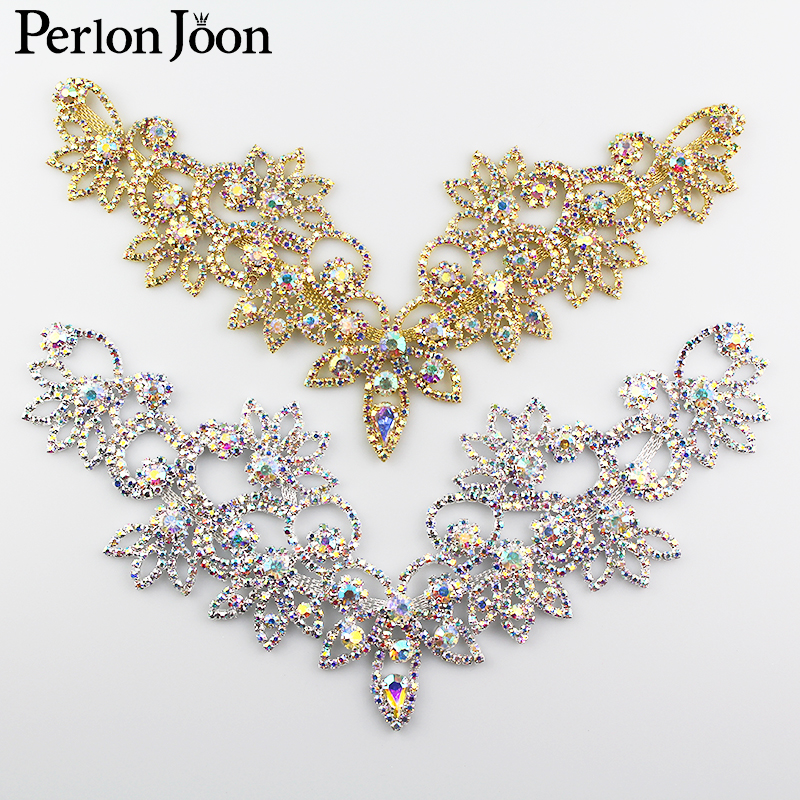 Latest Diy Ab Crystal Rhinestone Necklace For The Princess Dress Wedding Dress Skirt Flashing Hand Sewing Clothing Accessories