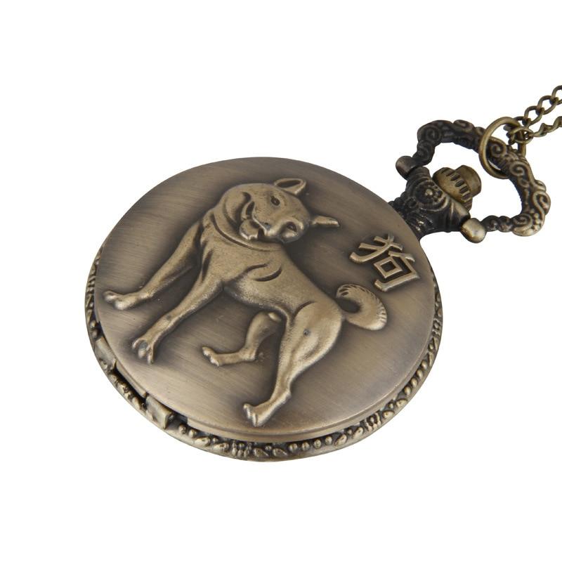 Antique Queen Flip 12 Zodiac Dog Pocket Watch 12 Zodiac Pocket Watch
