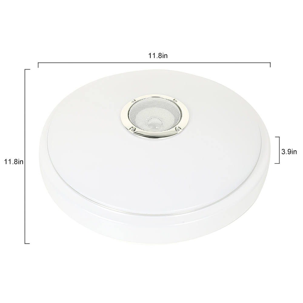 Купить с кэшбэком LED Bluetooth Music Ceiling Lights Bedroom Embedded Lighting Round Star Music with Bluetooth Speaker Dimmable Color Light