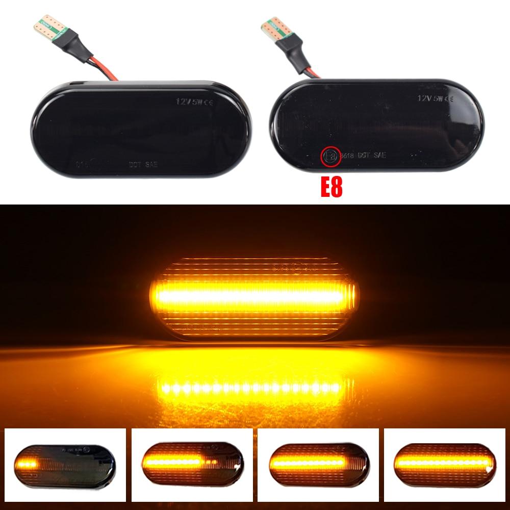 Динамический поворотный сигнал, светодиодный боковой маркер, зеркальсветильник индикатор, мигающий индикатор для VW Bora Golf 3 4, Passat Polo, для Seat, ...