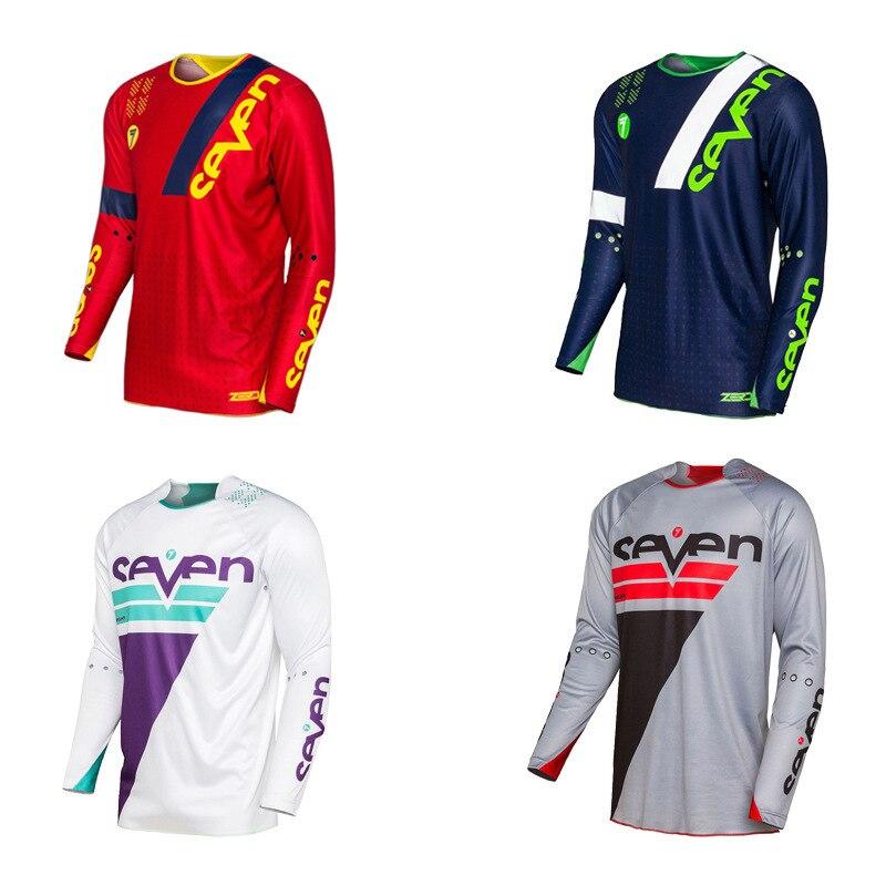 Sept vêtements de vélo à manches longues T-shirt à séchage rapide équitation de vélo personnalisable hauts voiture de course de moto tout-terrain chemise
