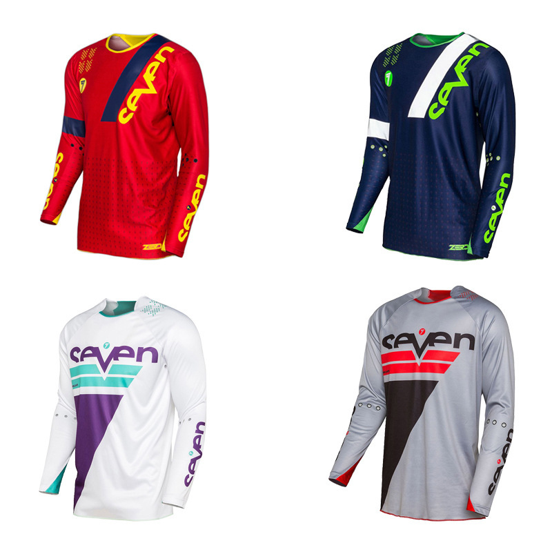 Seven Bicycle Clothing Long Sleeve Quick-drying T-shirt Bicycle Riding Customizable Tops title=