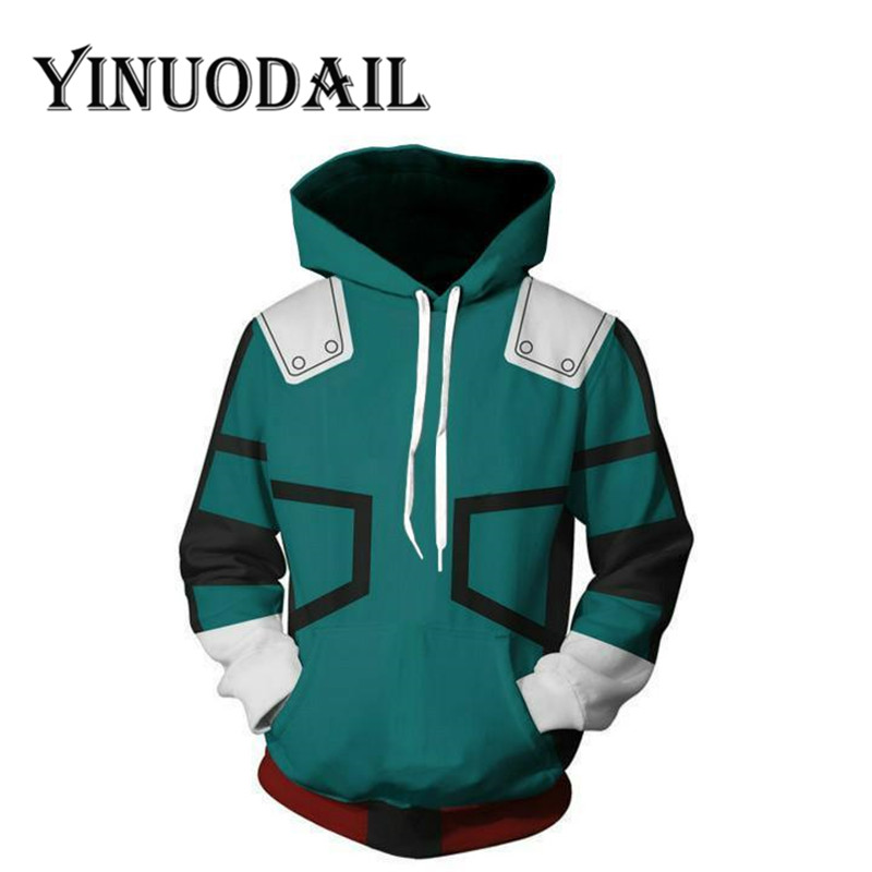 Fans Wear My Hero Academia Sweatshirts - Izuku Midoriya Hero Academia Deku Cosplay Costume Hoodies