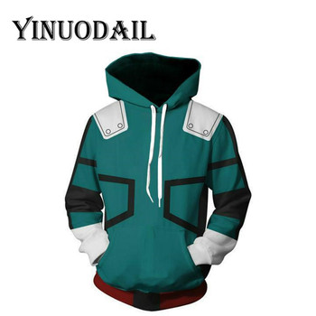 Fans Wear My Hero Academia Sweatshirts - Izuku Midoriya Deku Cosplay Costume Hoodies