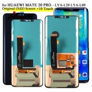 ЖК- экран для телефона Huawei Mate 20 Pro , ЖК-дисплей, сенсорный экран, для LYA-L09,LYA-L29, оригинал, 2K экран, протестированный ЖК-дисплей
