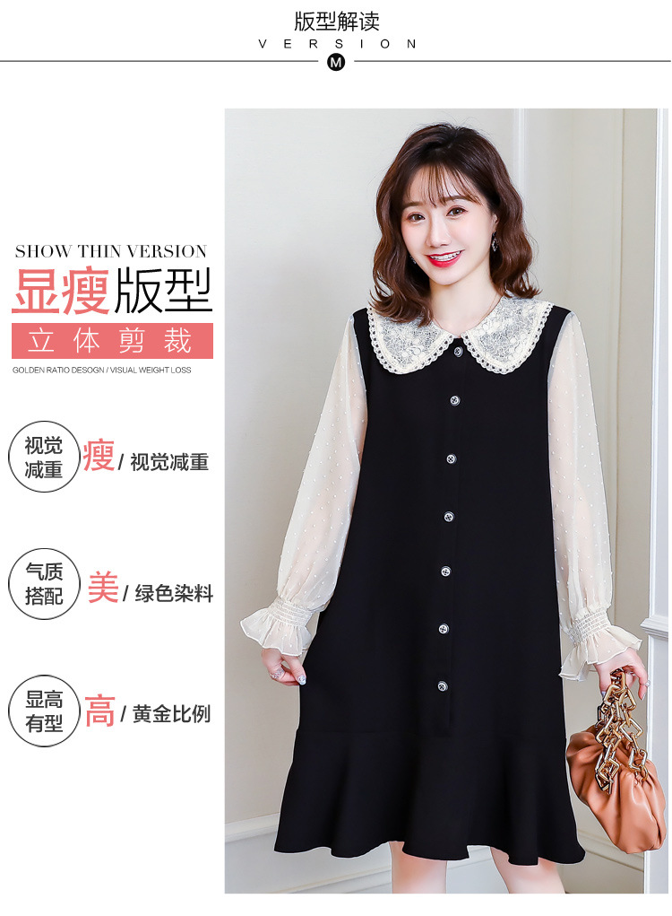 Cotton Spring Dress for Pregnant Women Maternity Summer Clothes for Pregnancy Black Pregnant Dress (5)