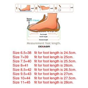 Image 5 - Dekabr本革男性靴春のファッション革の男性フラッツ新高品質カジュアルシューズを駆動するための