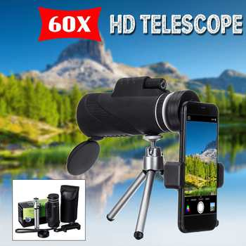 Monocular 40x60 Powerful Binoculars High Quality Zoom Great Handheld Telescope lll night vision Military HD Professional Hunting image