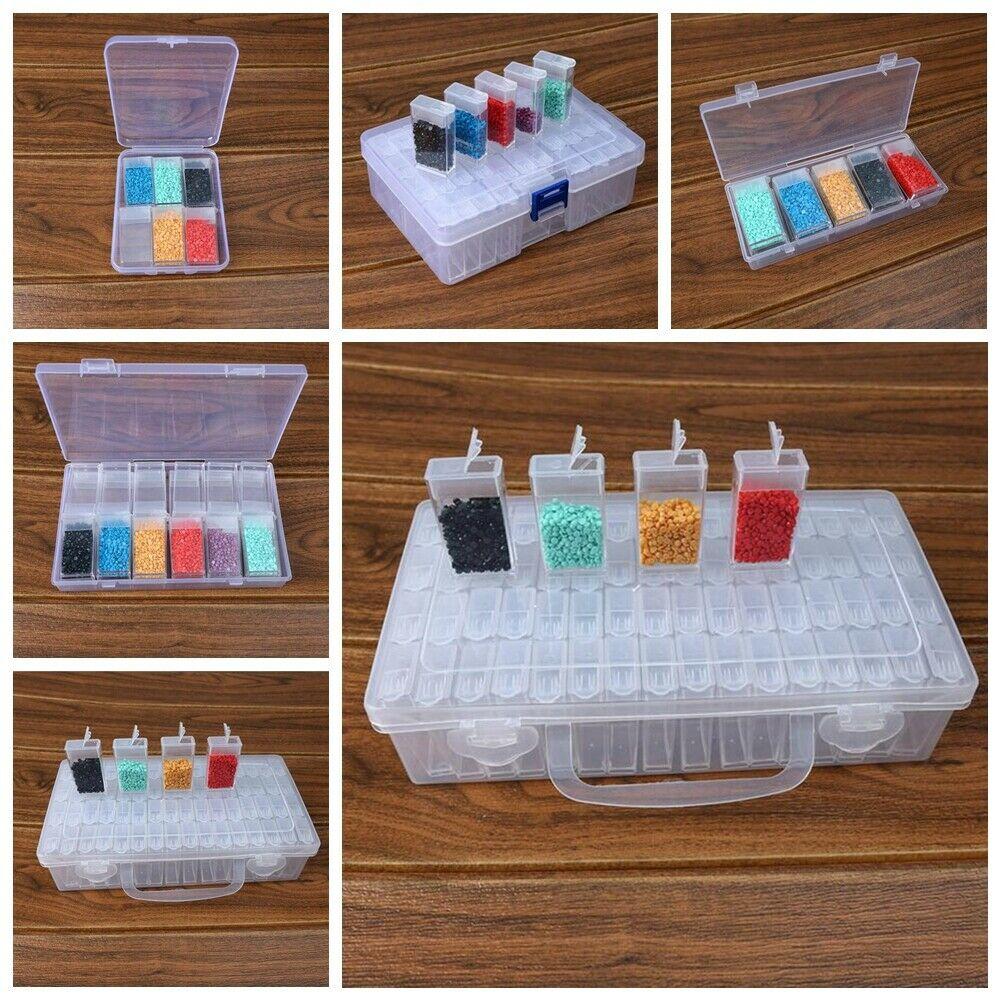 6/10/12/24/42/64 Grid DIY Diamond Painting Jewelry Storage Box Nail Bead Transparent Plastic Box Organizing Storing Container