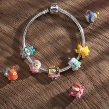 High Quality Variety Lovely Chicks Like Coseplay 925 Sterling Silver Enamel Charm DIY Beads Bracelet Making Fine Jewelry Making