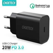 Choetech carga rápida 4.0 3.0 qc pd carregador 20w qc4.0 qc3.0 usb tipo c carregador rápido para iphone 12 x xs 8 xiaomi telefone pd c