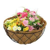 코코넛 야자 벽 매달려 꽃 냄비 라이너 식물 섬유 교체 라이너 꽃 냄비 난초 꽃 냄비 발코니 심기 냄비|바스켓 라이너|홈 & 가든 -