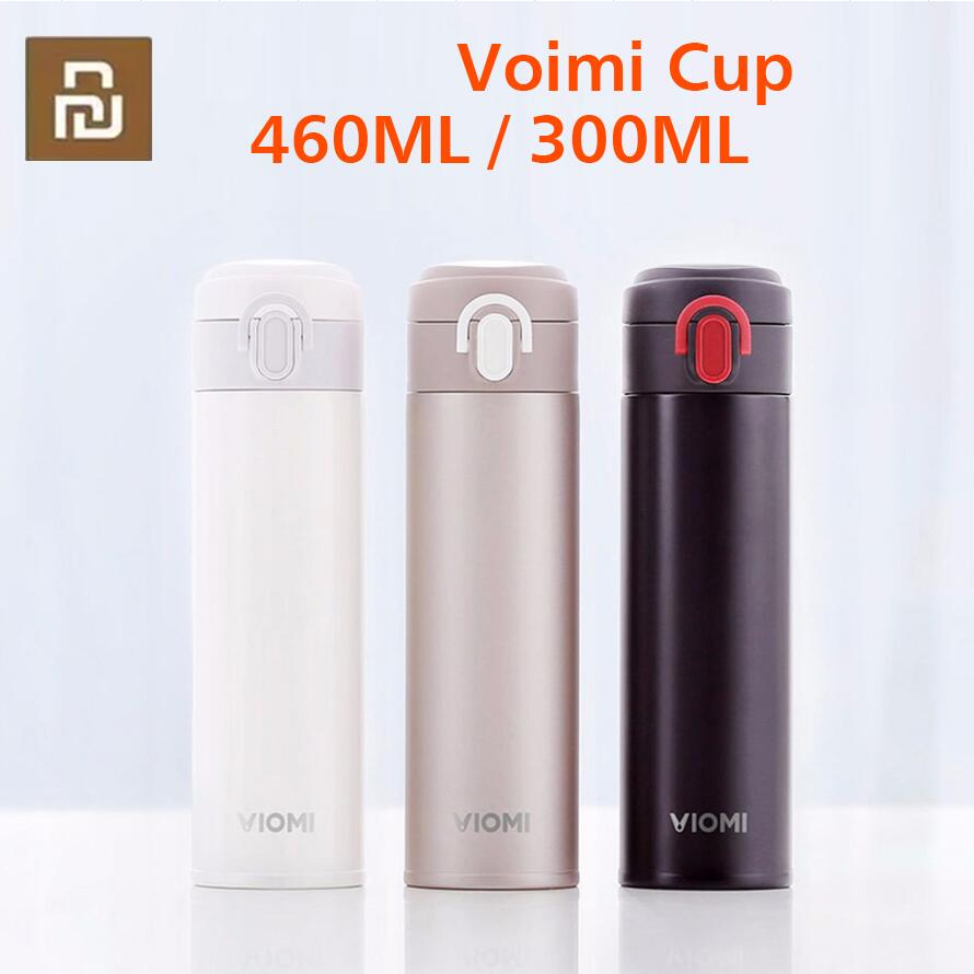 Youpin VIOMI Portable Vacuum Thermos 300ML  460ml Lightweight Alloy Material 24 Hours Thermos Single Hand ON Close