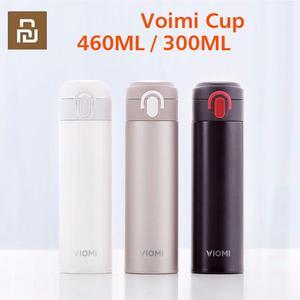 Image 1 - Youpin VIOMI Tragbare Vakuum Thermos 300ML /460ml Leichten Legierung Material 24 Stunden Thermos Einzigen Hand AUF/schließen
