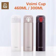 Youpin viomi portátil vácuo garrafa térmica 300ml/460ml material de liga leve 24 horas garrafa térmica única mão em/fechar