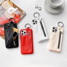 Ins Rits Portemonnee Case Voor Iphone 12 12Pro Max Pu Leather Case Voor Iphone 11 11Pro Max Xr X Xs max 7 8 Plus Se Beschermhoes