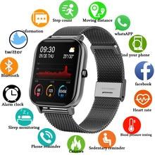 2020 New P8 Color Screen Smart Band Women men Full Touch Fitness Tracker Blood Pressure Smart Clock Women Smartwatch for Xiaomi