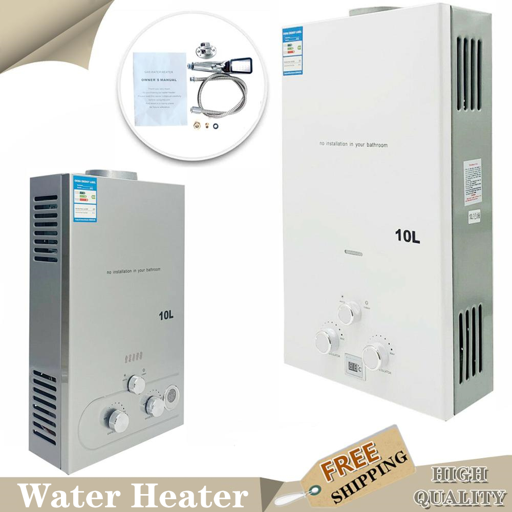 VUE Tankless Propane Water Heater 16L Hot Water Heater Propane 4.3GPM Propane Water Heater Upgrade Type with Shower Head Kit