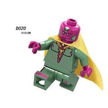 Одна Legoeingly фигурка Супер Герои Vision Loki Outrider Черная пантера гагора Капитан Америка Marvel кирпичная игрушка подарок D020
