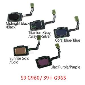 Кнопка «домой» с датчиком отпечатков пальцев для Samsung S9 Plus G960 G965, оригинальный телефон, новая кнопка возврата, меню, кнопка сенсорной идентиф...