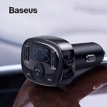 Baseus FM Transmitter Aux Modulator Wireless Bluetooth Handsfree Car Kit Car Audio MP3 Player Quick Charge Dual USB Car Charger(China)