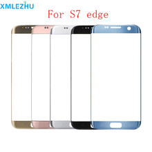 30Pcs For Samsung Galaxy S7 Edge G935F S6 Edge G925 LCD Display Outer Touch Panel Screen Glass Replacement Front Glass Lens(China)