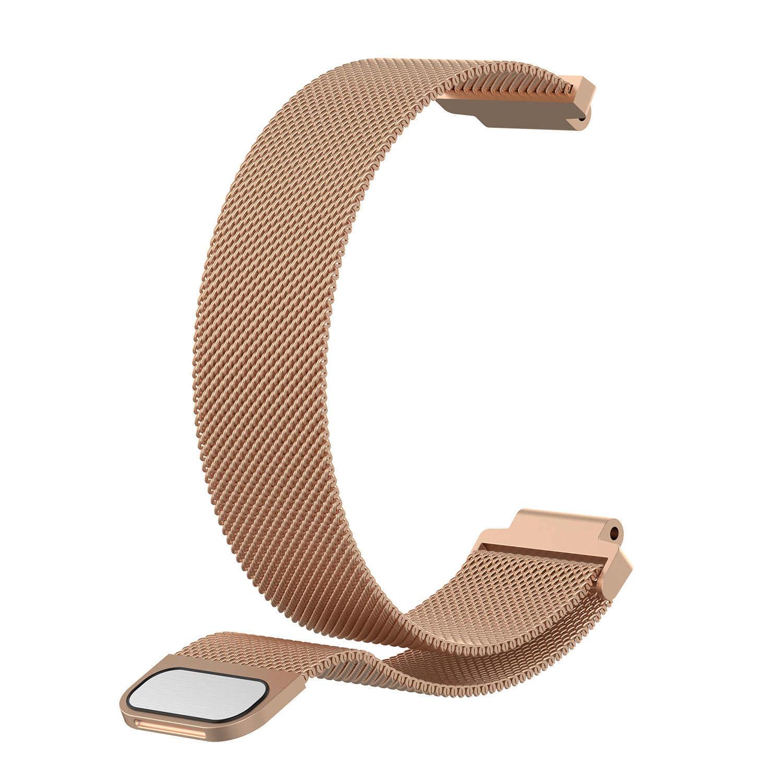 20 มม.22 มม.สำหรับ Amazfit Smart Watch สายสแตนเลสสายคล้องคอแม่เหล็กสำหรับ Samsung Xiaomi Amazfit Bip นาฬิกาสร้อยข้อมือ