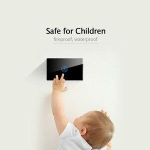 Image 4 - 미국 표준 1 갱 2 웨이 컨트롤 터치 on/off 스위치 벽 계단 라이트 컨트롤러 홈 오토메이션 2 3 갱 널 및 라이브 라인