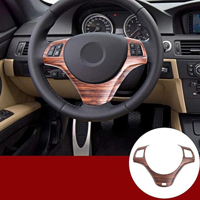Protector para volante de coche Decoración Accesorios de marco para BMW E87 1 de la serie 2004-2011 E90 3 Serie 2005-2012