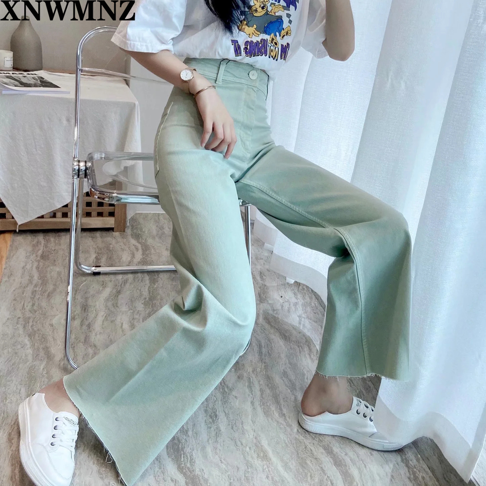 Za Jeans Zw Premium Marine Straight High Waist Jeans Featuring Rear Patch Pockets Seamless Hems Front Zip Fly With Top Button Jeans Aliexpress