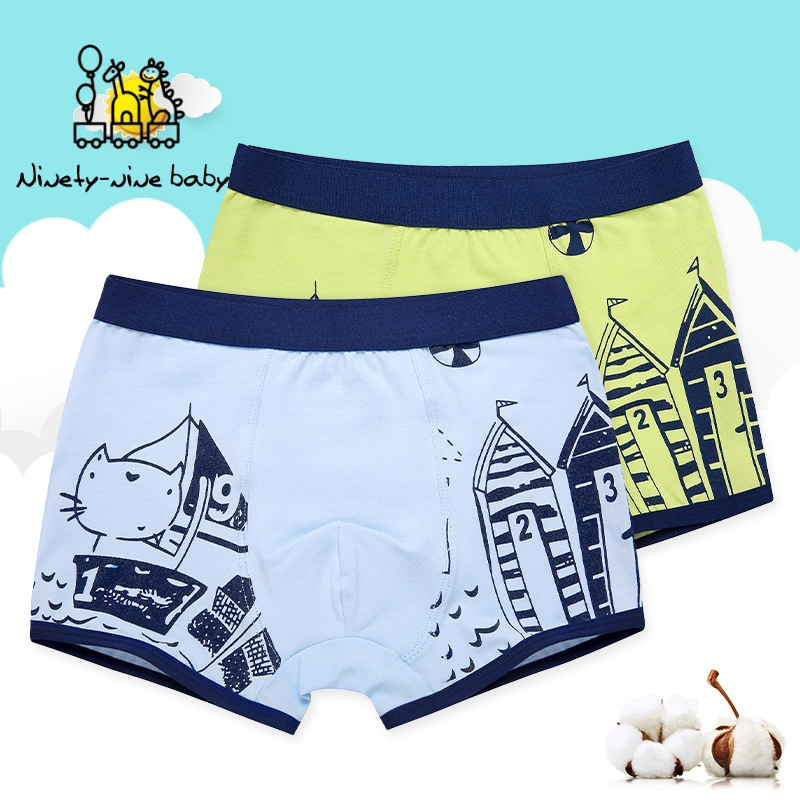 Children Underwear Boys Panties Cotton Boxer Children Briefs Boy Shorts Baby Panties Kids Underwear 5-14T Boys Print Underpants