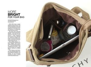 Image 5 - Новинка 2020 мужская сумка для отдыха сумка через плечо с дорожным холщовым материалом мужские сумки через плечо сумка мессенджер