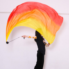 New Arrival 1pair Belly Dance 100% Silk Veil Poi for Women Sexy Stage Performance Props Silk Scarves Poi Bellydance Accessory