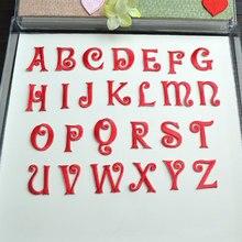 26 letras inglesas vermelhas remendos para o vestido de casamento ferro em apliques de renda para roupas diy nome acessório remendo