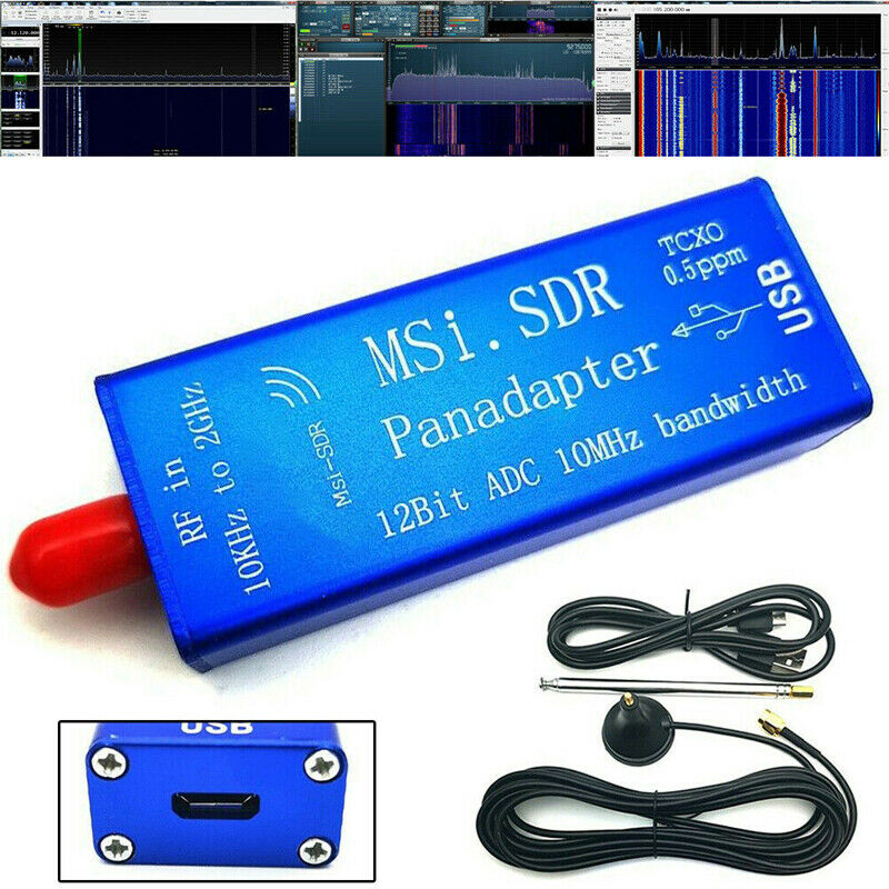 New Broadband Software MSI.SDR 10kHz To 2GHz Panadapter SDR Receiver 12-bit ADC Compatible SDRPlay RSP1 SDRUNO
