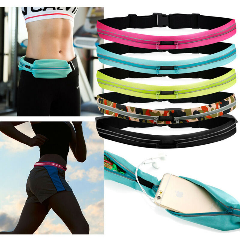 Runner Waist Belt Bag Pack Pouch Bum Sport Fitness Jogging Universal Dual Pocket Phone Storage Fanny Pack