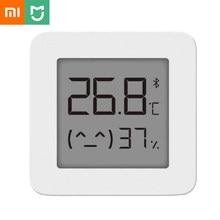 شاومي ميجيا ميزان الحرارة 2 بلوتوث الذكية الرطوبة اللاسلكية الكهربائية الرقمية الرطوبة الحرارية مع Mijia LCD المنزل الذكي