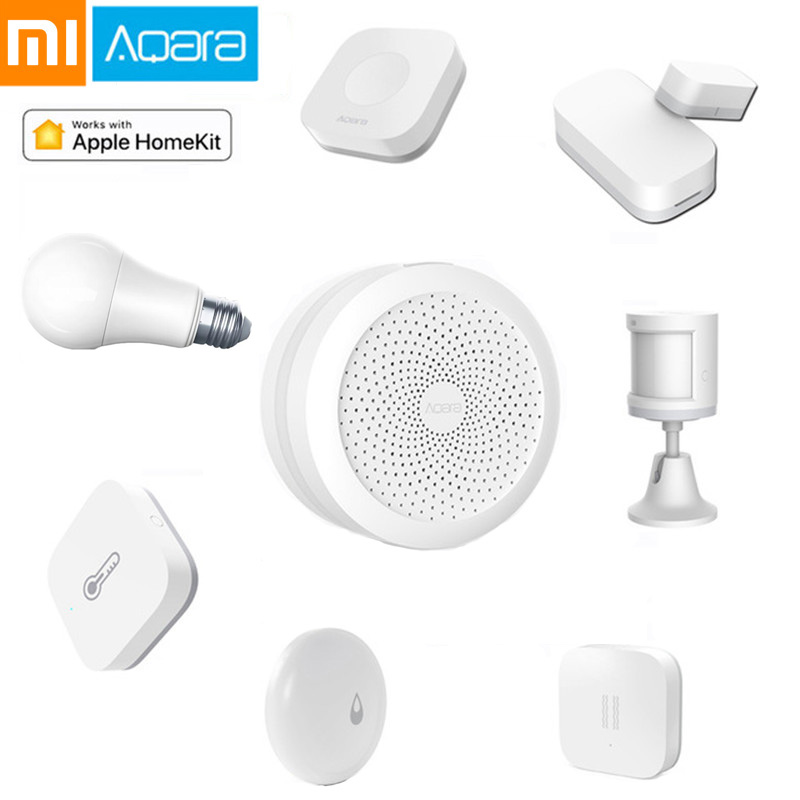 Xiaomi Aqara Set Smart Home Kits Gateway Hub Door Temperature Motion Sensor Wireless Switch Relay Module Water Sensor Homekit