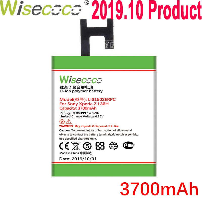 Wisecoco 3700 MAh LIS1502ERPC Baterai untuk Sony Xperia Z Lt36h L36H L36i C6600 C6602 S39H SO-02E C6603 C2305 Telepon + nomor Pelacakan