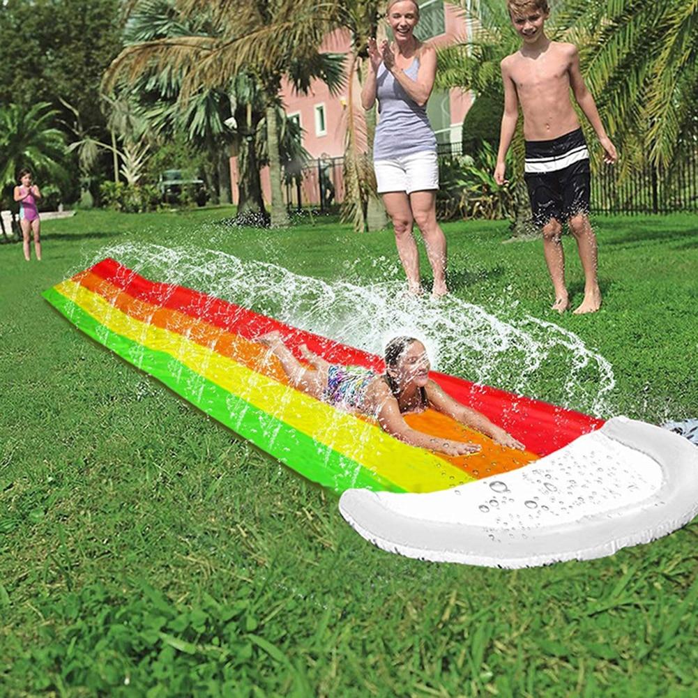 Games Center Backyard Children Adult Toys Inflatable Water Slide Pools Children Kids Summer Backyard Outdoor Water Toys