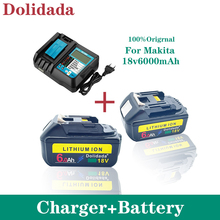 BL1860 Rechargeable Battery 18 V 6000mAh Lithium ion for Makita 18v Battery BL1840 BL1850 BL1830 BL1860B LXT 400+charger