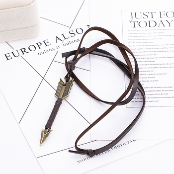 Fashion trend Men Vintage Leather wild Arrow Punk Necklaces alloy Pendants Personality Body Choker Chain Jewelry Gift 4