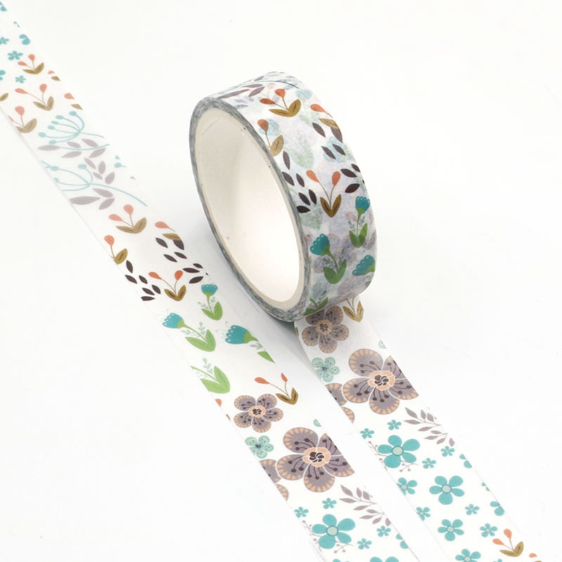 NEW Wholesale 10pcs/lot Decorative Summer Flowers Washi Tapes DIY Scrapbooking Planner Adhesive Masking Tapes Kawaii Stationery