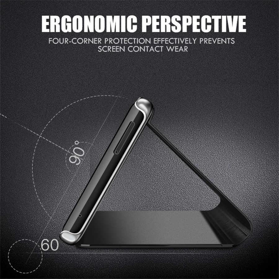 スマートミラー Huawei 社 P30 Lite ライト P30Lite カバースタンド Huawei 社 P30 プロ P30Pro Coque Funda hawei 1080P 30 プロ