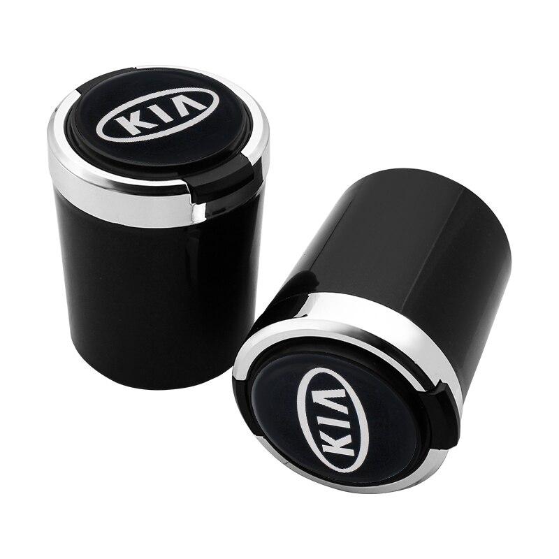 Автомобильный светодиодный мусорное ведро пепельница пыль чехол чашка для хранения Авто аксессуары для KIA K2 K3 K4 K5 Sorento Sportage РИО ДУША для укладки волос