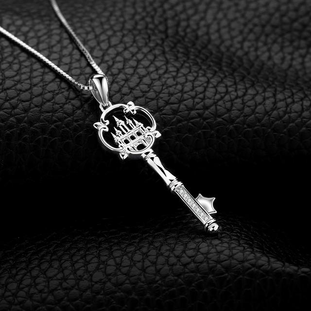 Castle Key Sterling Silver Pendant