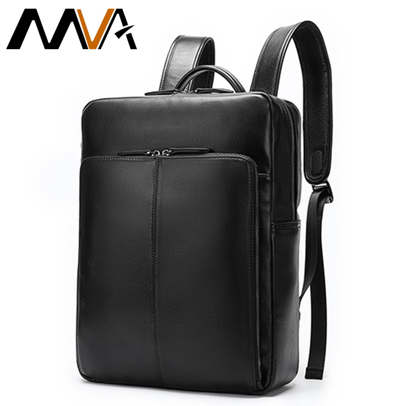 MVA Men's Backpack Leather Bags For Men Antitheft Backpack For Laptop School Bags For Teenager Multi-layer Space Travel Men 7115